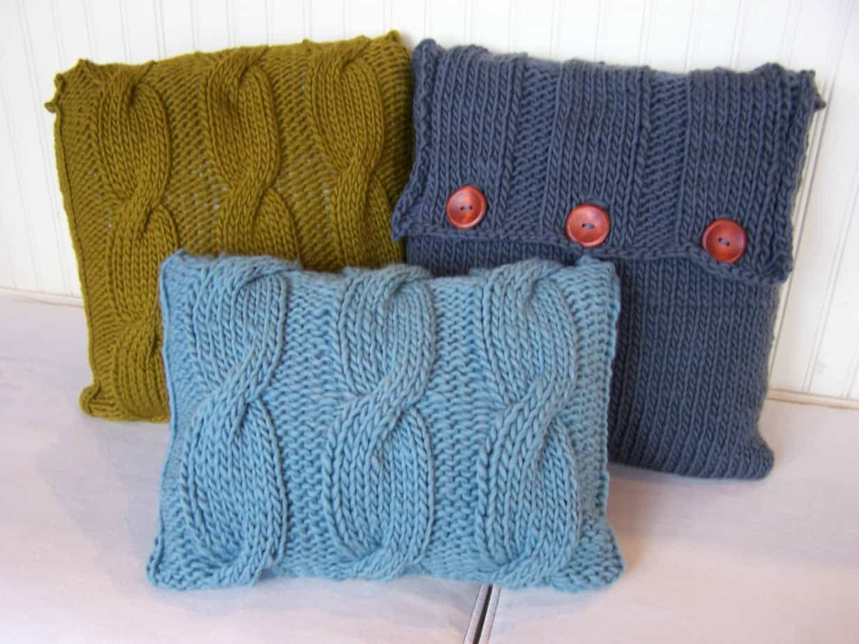 Chunky Cabled Pillows Pattern