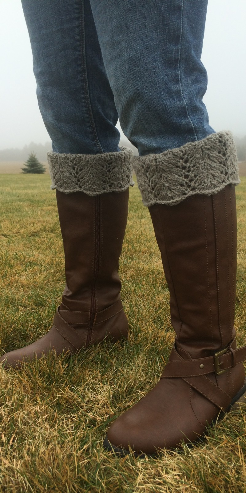 Leaf Lace Boot Toppers Pattern